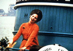 Barbra Streisand singson a tugboat in Funny Girl