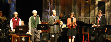 A scene from A Prairie Home Companion