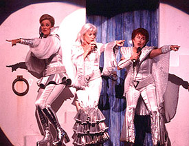 Karen Mason, Louise Pitre, and Judy Kayein Mamma Mia!(Photo: Joan Marcus)