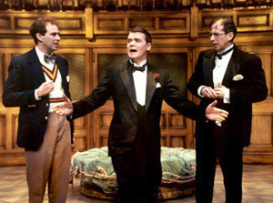 Don Stephenson, John Scherer, and James Kall in By Jeeves(Photo: Suellen Fitzsimmons)