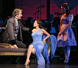 Douglas Sills, Kristin Chenoweth, and Sierra Boggess