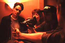 Robert Sean Leonard (l) and companyon the set of Tape(Photo: Clark Walker/Lions Gate Films)