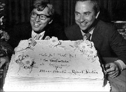Tom Jones and Harvey Schmidt,  authors of The Fantasticks, in 1967