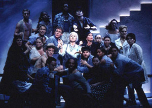 Louise Pitre and company in Mamma Mia!(Photo: Joan Marcus)
