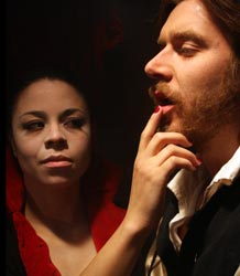 Crista Marie Jackson and Daniel Wolfe in Dr. Faustus