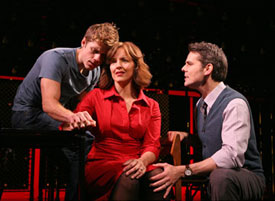 Aaron Tveit, Alice Ripley, and J. Robert Spencer