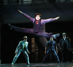 Nick Adams and company in Guys & Dolls