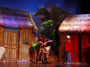 A scene from Gilligan's Island: The Musical