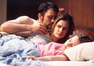 Jeffrey Donovan, Anna Paquin and Brittany Slatteryin The Glory of Living(Photo: Joan Marcus)