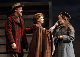 Steve Blanchard, Melissa Gilbert, and Kara Lindsay