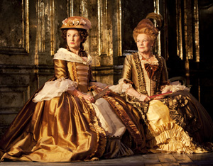 Deborah Findlay and Judi Dench in Madame de Sade