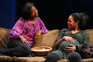 LaChanze and Angela Lewis in Inked Baby