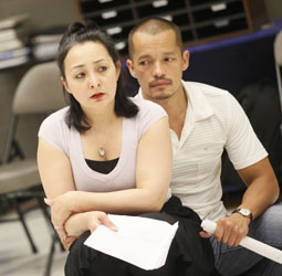 Lisa Tejero and Arthur Acuna in rehearsal