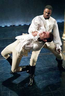 Keith David and Liev Schreiber in Othello(Photo: Michal Daniel)