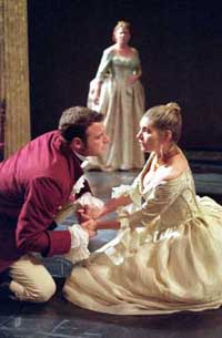 Liev Schreiber and Kate Forbes (foreground)with Becky Ann Baker in Othello(Photo: Michal Daniel)