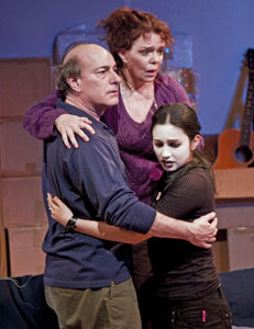 Peter Friedman, Deirdre O'Connell, and Molly Ephraim in End Days (© Zack Brown)