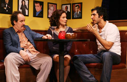John Pankow, Laura Benanti, and Amir Arison