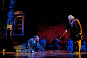Chad L. Coleman, Roger Robinson, and company in Joe Turner's Come and Gone (© T. Charles Erickson)