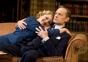 Mary Catherine Garrison and David Hyde Pierce in Accent on Youth (© Joan Marcus)