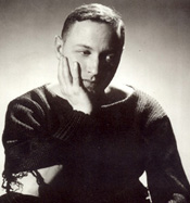 Tennessee Williams,  young and moody.