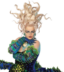 Faith Prince as Ursula in The Little Mermaid