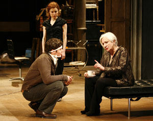 Jonathan Groff, Susan Pourfar, and Olympia Dukakis
