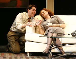 Nicholas Viselli and Marilee Talkington in A Nervous Smile