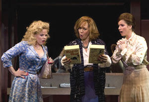 Megan Hilty, Allison Janney, and Stephanie J. Block