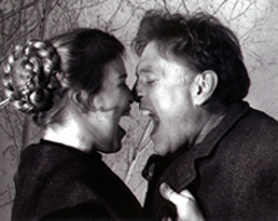 Catherine Curtin and William Atherton in The Castle(Photo: Aaron Leichter)