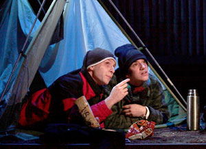 Roger Lirtsman and Alex Fast in Christmas Is Miles Away (© Rachel Roberts)