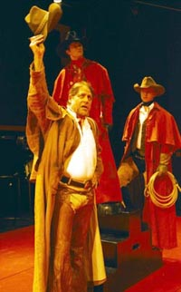 Earl Hindman (front), Pete Starrett (above),and Roderick Hill (right) in Cymbeline(Photo: Manual Harlan)