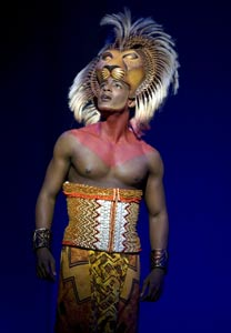 Clifton Oliver in The Lion King (© Joan Marcus)