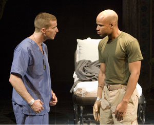 Brad Fleischer and Glenn Davis in Bengal Tiger at the Baghdad Zoo