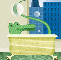 Publicity Art for Lyle the Crocodile