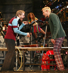 Anthony Rapp, Lexi Lawson, and Adam Pascal in Rent (© Joan Marcus)