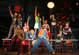 The cast of Rent