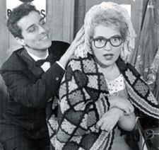 Judy Holliday with Sydney Chaplin in theoriginal Broadway production of Bells Are Ringing