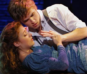 Kyle Riabko and Christy Atomare in Spring Awakening