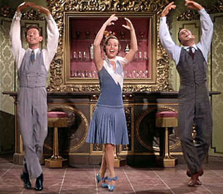 Donald O'Connor, Debbie Reynolds, and Gene Kelly in Singin' in the Rain