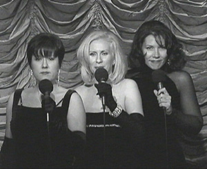 The Swingirls (l-r): Marybeth Purdy,Pat Monahan, and Linda Harris