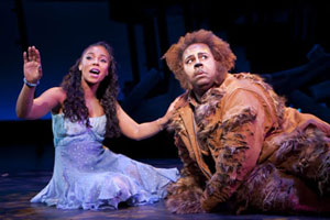 Ashanti and James Monroe Iglehart in The Wiz