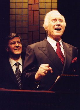 Francis Guinan and George Coe in God's Man in Texas(Photo: Michael Lamont)