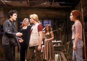 Diane Venora, Shirley Knight, Catherine Kellner,Alyssa Bresnahan, and Maria Thayer in Necessary Targets(Photo: Joan Marcus)