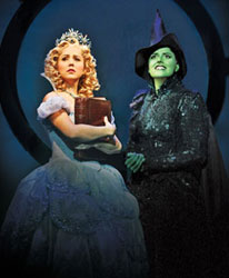 Alli Mauzey and Nicole Parker in Wicked (© Joan Marcus)