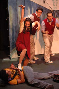 A scene from Vital Theatre's The Bully
