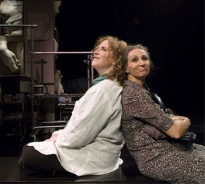 Claudia Shear and Natalija Nogulich in Restoration