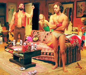 Matthew Pilieci, Mandy Moore, and James Kautz in The Pied Pipers of the Lower East Side (© Larry Cobra