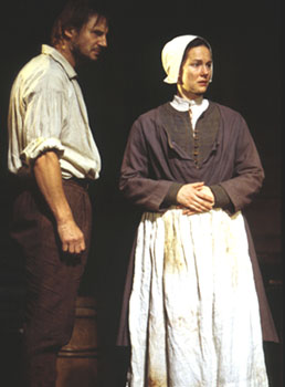 Liam Neeson and Laura Linney in The Crucible(Photo: Joan Marcus)