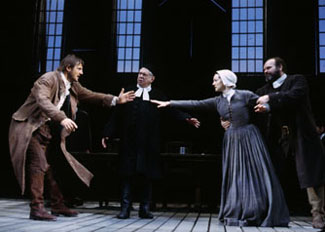 A fraught moment from The Crucible(Photo: Joan Marcus)