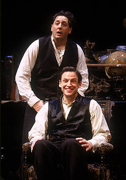 Brotherly love among the ruins:Reg Rogers and Peter Frechette in The Dazzle(Photo: Joan M